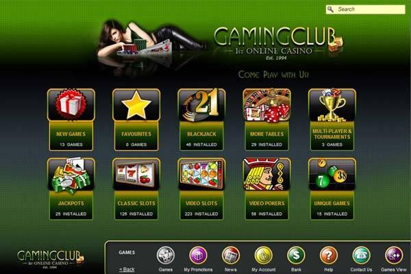 GamingClub Lobby