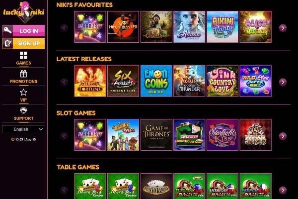 Play at Lucky Niki